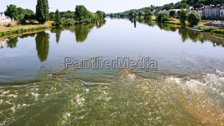 surface of loire river in amboise