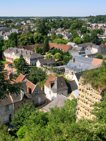 above view of amboise town in