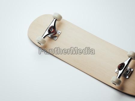 leeres hoelzernes skateboard 3d rendering