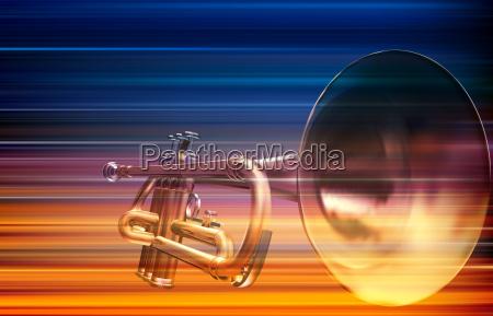 abstrakte blau weisse musik hintergrund mit