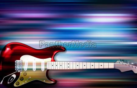 abstrakter blurischer musikhintergrund mit e gitarre