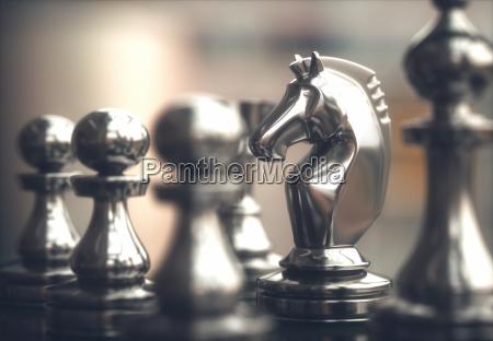 schachfiguren spielbrett
