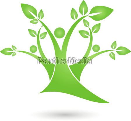 tree plant people naturopath logo