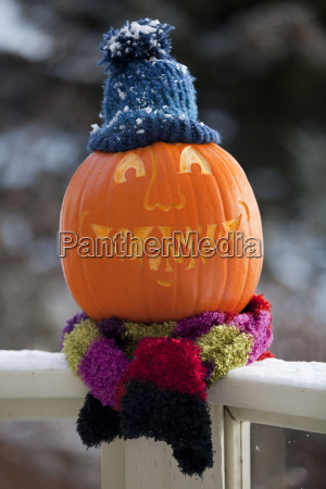 close up of a carved pumpkin