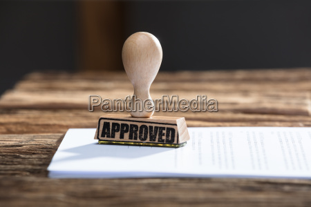 approved stamp on document