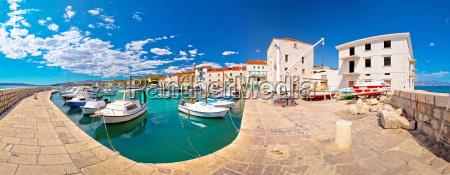kastel novi turquoise harbor and historic