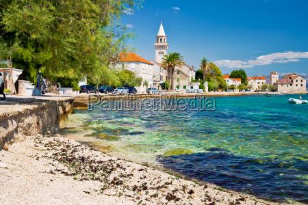 kastel stafilic landmarks and turquoise beach