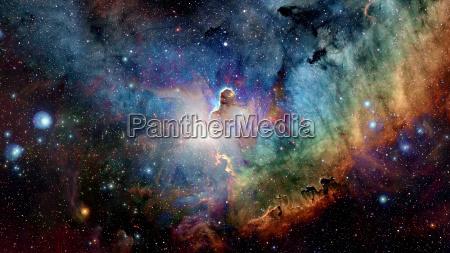 nebel und galaxien im weltraum elemente