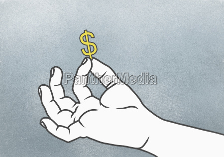 cropped hand of man holding dollar