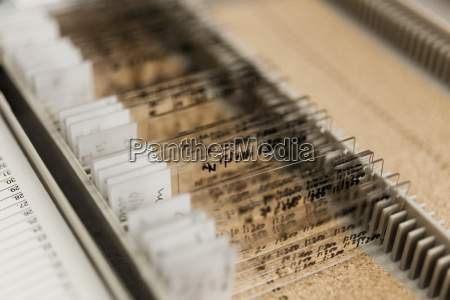 close up of various microscope slides