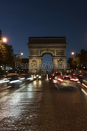 france paris arc de triomphe de