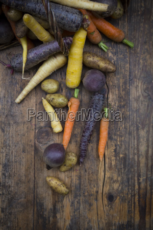 winter vegetables carrot beetroot potato and