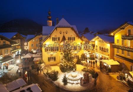OEsterreich salzburg salzkammergut st gilgen weihnachtsmarkt