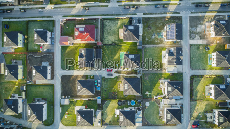 directly above view of houses in