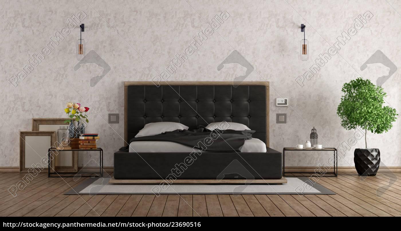 Schwarz Weiss Schlafzimmer Lizenzfreies Foto 23690516 Bildagentur Panthermedia