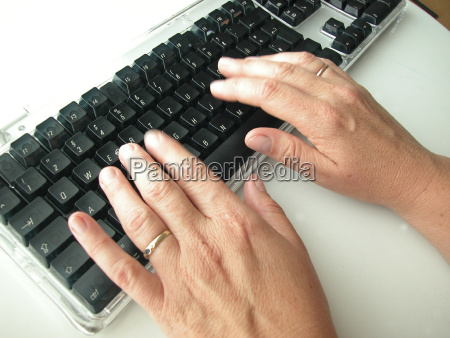 office hand hands keyboard finger inside