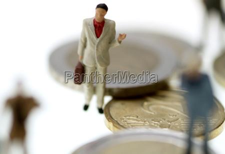 geschaftsmenschen und geld