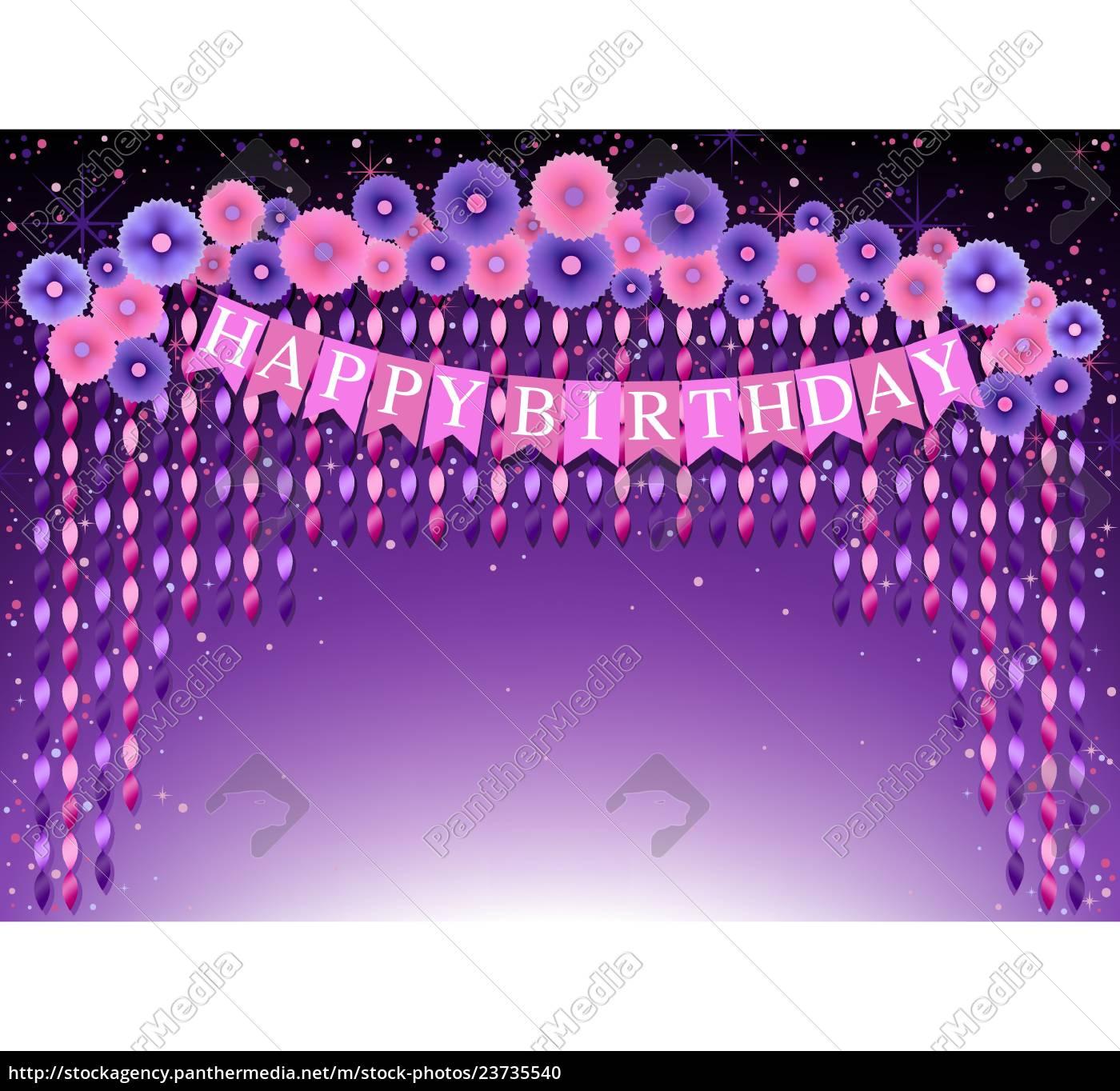 happy, birthday, background, mit, lila, und - 23735540