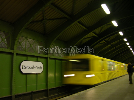 u bahn subway at eberswalder strasse