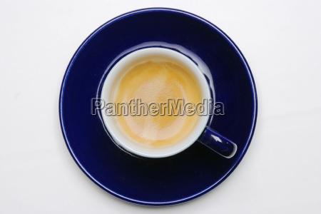 blaue espressotasse espresso mit samtiger