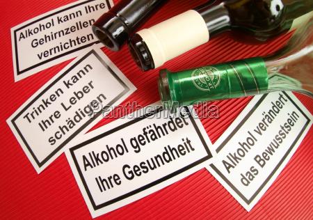 warnhinweis fur alkohol