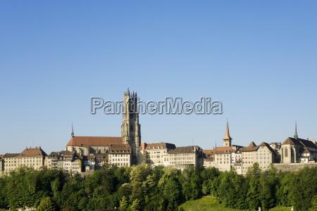 altstadt von freiburgfribourg schweiz