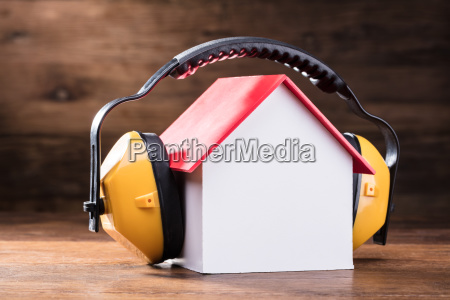 working protective headphone on the house