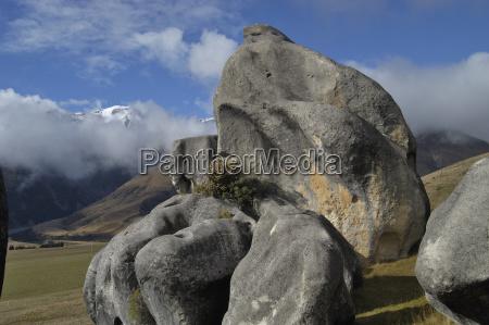 sandstone rock formations kura tawhiti conservation