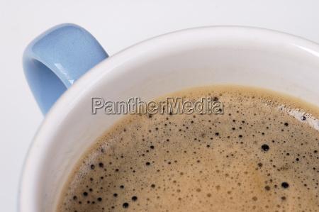 kaffee in der tasse ausschnitt