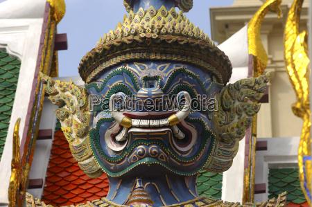 temple art statue teeth asia wild