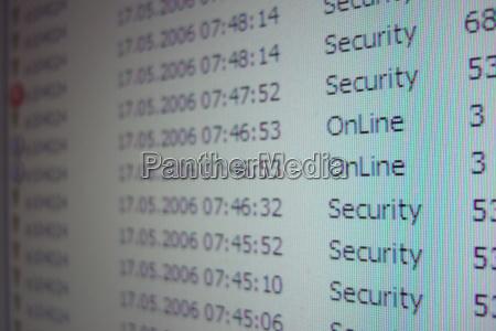 computersicherheit sicherheitsprotokoll eines computers
