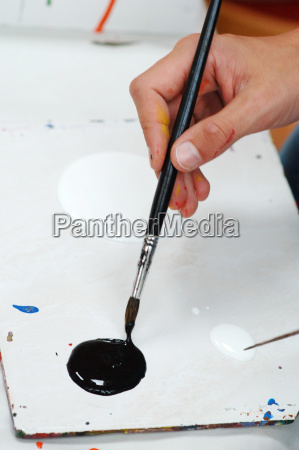 malen mit acrylfarben farbklecks farbkleckse