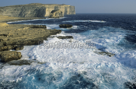 cliff at dwejra bay gozo island