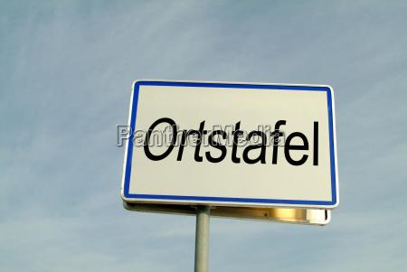 ortstafel