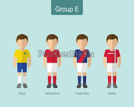 fussball oder fussballteamuniform 2018 gruppe e