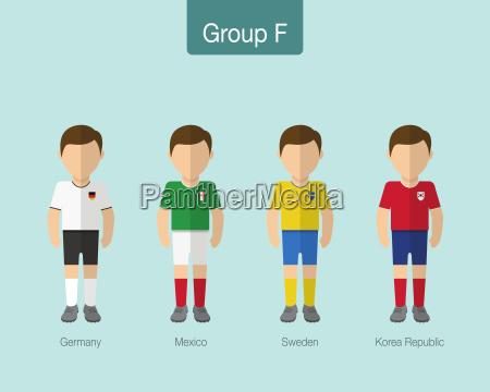 fussball oder fussballteamuniform 2018 gruppe f