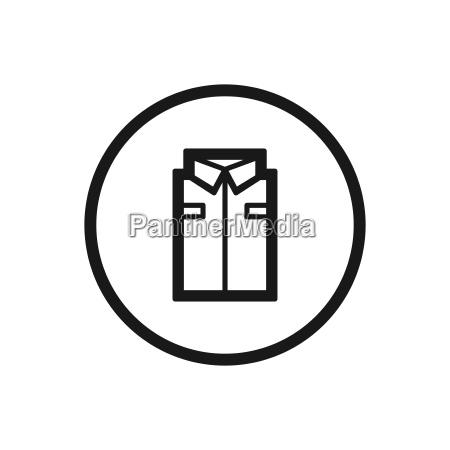 arbeitskleidungs symbol auf weissem hintergrund