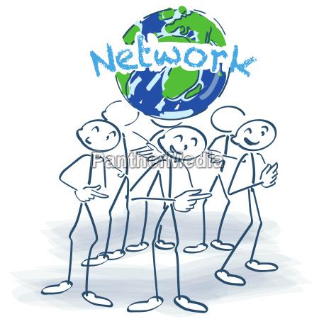 strichmaennchen und network rund um die