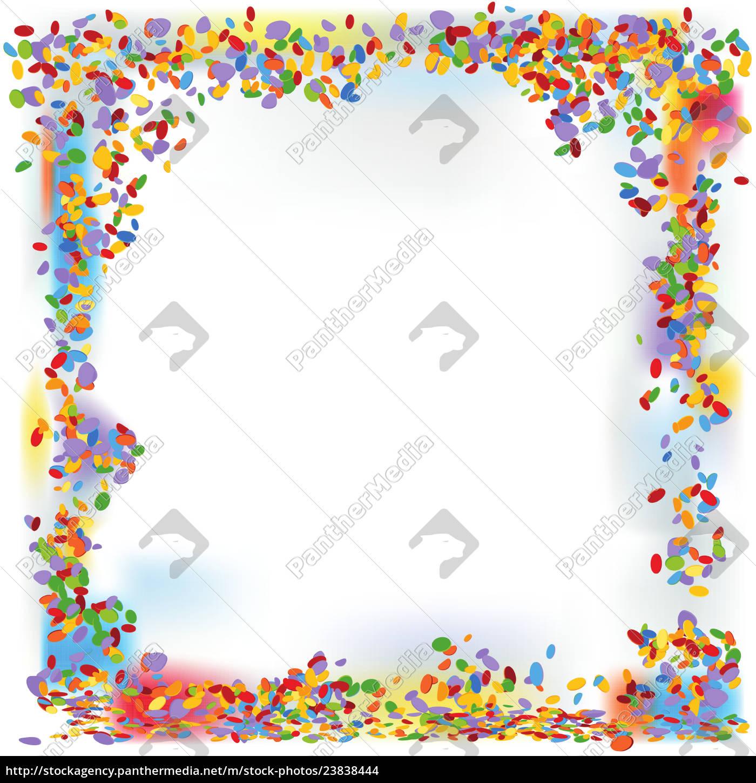 Konfetti bildet einen Rahmen - Lizenzfreies Foto - #23838444 ...