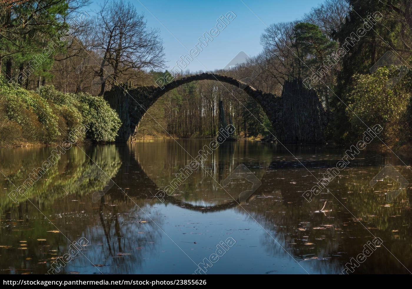 rakotzbrücke, , kromlau, , sachsen, , deutschland - 23855626
