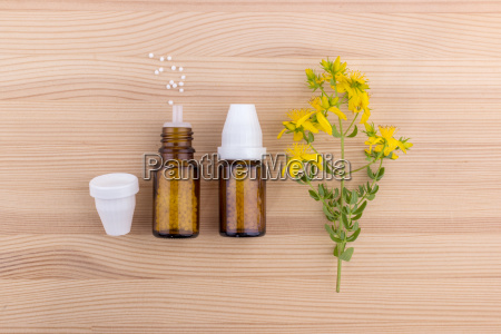 top view of a homeopathic medicine