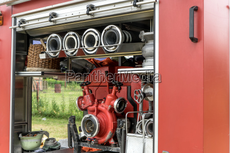 detail of a fire engine with