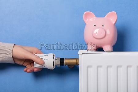 thermostat der person