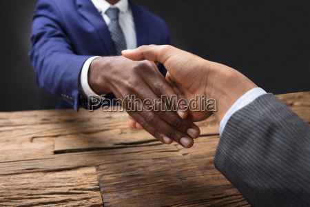 businessman shaking hand with his partner