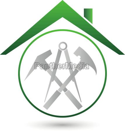 dach werkzeuge dachdecker logo