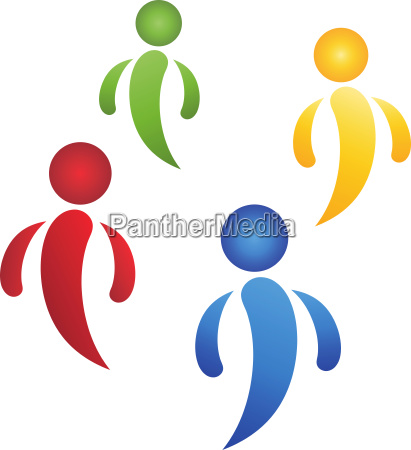 four peopleteam and people logo