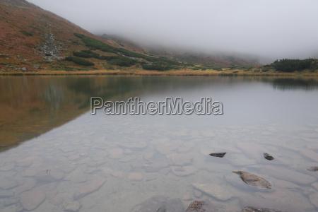 stein nebel reflexion felsen fels gestein