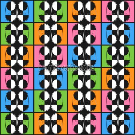abstrakte farbschuhe muster