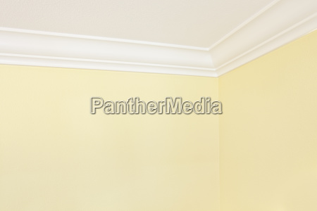 yellow wall and ceiling