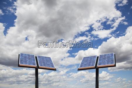 blau wolke energie strom elektrizitaet horizontal